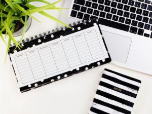 un planning mensuel pour mieux gérer son temps