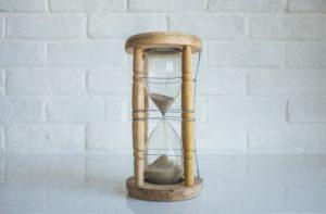 un sablier pour minuter ses pauses