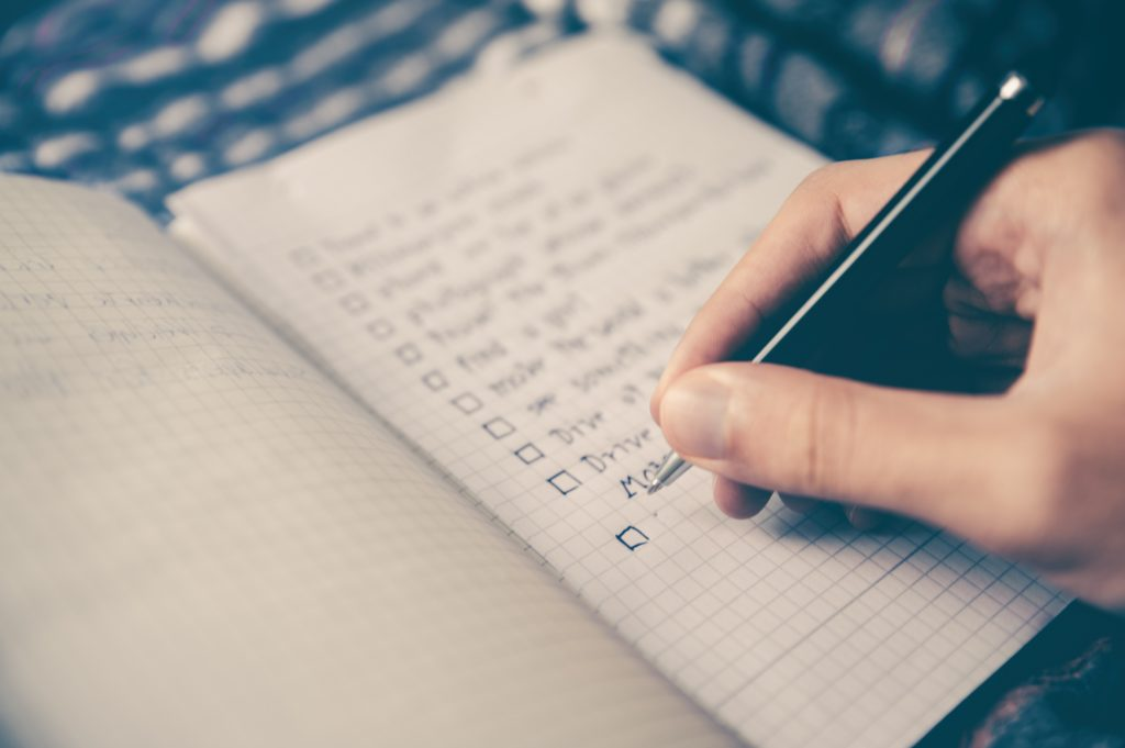 to-do-list pour s'organiser à l'université