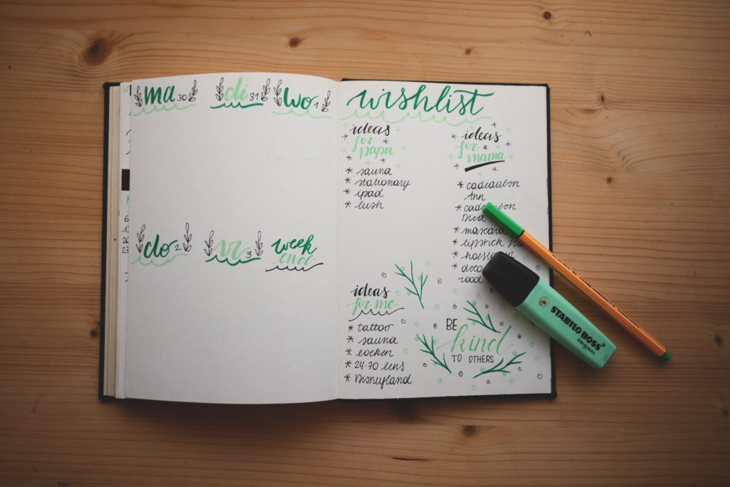 to-do-list dans un bullet journal