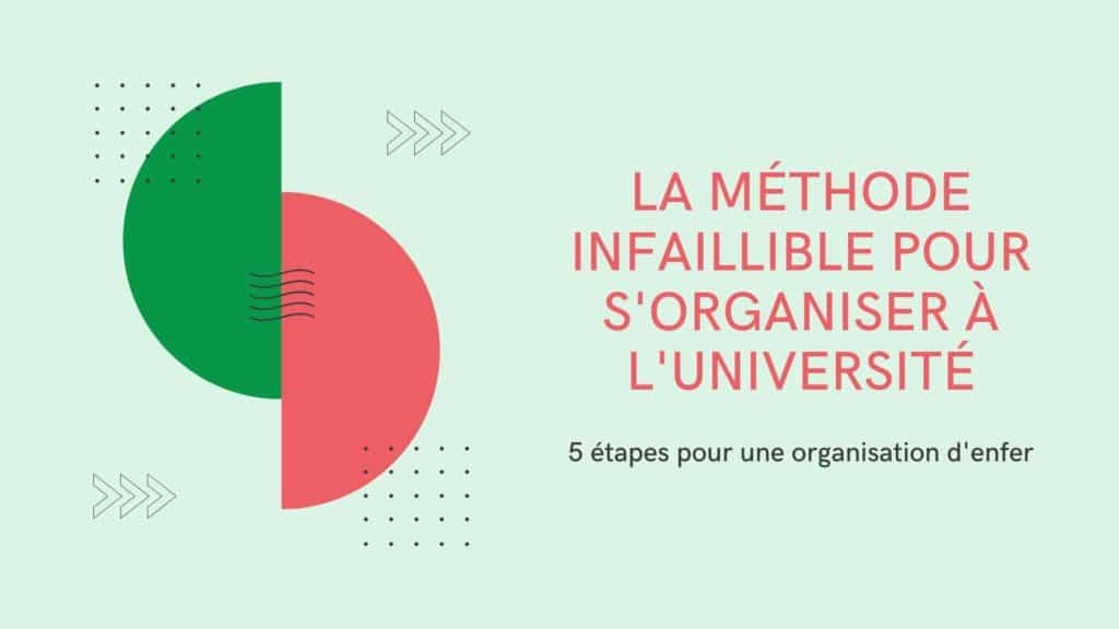 méthode infaillible s'organiser à l'université